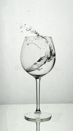 Photo about Splash of water in a wine glass. Image of background, splash, healthy - 163773103 Drawing Cup, Water Drawing, Object Drawing, Realistic Drawings, Art Drawings Sketches, Cartoon Drawings, Wine Glass Drawing, Water Sketch, Wine Tattoo