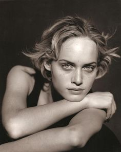 Amber Valletta   Photography by Peter Lindbergh   For Jil Sander Campaign   Spring 1994
