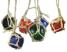 Japanese Glass Float Buoys Christmas Ornaments Set of 6 * This is an Amazon Affiliate link. Check out this great product.