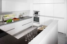 You can never go wrong with a white kitchen. Design a modern kitchen like this with RAUVISIO crystal polymer back-painted glass surfaces. http://www.rehau.com/us-en/furniture/surfaces/glass/rauvisio-crystal