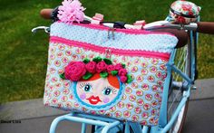 farbenmix_Tasche_Schnitmmuster_Taschenspieler-3_pattern_Lenkertasche_deuxlies_bicycle-bag Diaper Bag, Lunch Box, Purses, Sewing, Crafts, Notebook, Scrappy Quilts, Bebe, Sew Simple