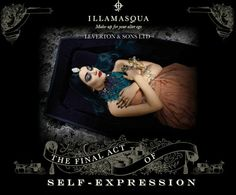 """The-Final-Act-Of-Self-Expression - To wear the most fabulous make-up applied by a professionally trained make-up artist for your final journey is the ultimate statement of celebration."""" according to Illamasqua. The company also provides pre-coffin make-up applications"""