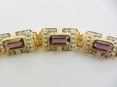Gorgeous Italian Art Deco Amethyst bracelet  5 by RAKcreations