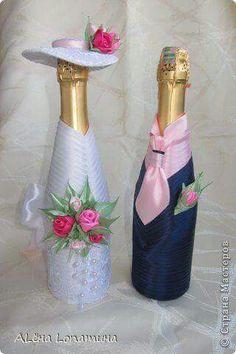 """Бутылки """"Жених и невеста"""", свадебный декор"""