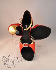 Variety of heel heights available. Sizes from EU to EU Other sizes available to order. Available in other colours. For current prices and to order visit the website. Tap Shoes, Dance Shoes, Ballroom Dance, Gold Sparkle, Red Satin, Pretty Shoes, Colours, Website, Lady