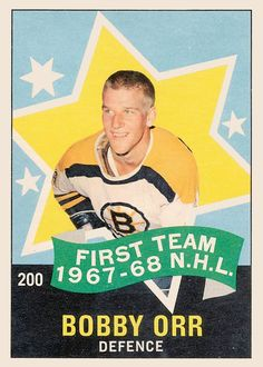 o-pee-chee 200 bobby orr team all-star Providence Bruins, Bernie Parent, Patrice Bergeron, Ice Hockey Teams, Hockey Players, Minnesota North Stars, Bobby Orr, Boston Bruins Hockey, Boston Sports