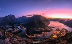 Åndalsnes Glow by Eamon Gallagher on 500px