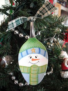 $14.00 free shipping - Snowman I painted on a spoon.  This is shared on my blog and it is in my Etsy shop too.    ETSY SHOP  http://www.etsy.com/shop/CyndiMacsNickKnacks  FACEBOOK PAGE  https://www.facebook.com/notifications#!/pages/Cyndimacs-NICK-Knacks/235308336497837?fref=ts  BLOG  http://cyndimacsnickknacks.blogspot.com/