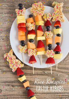 Rice Krispies Easter Kebabs  #RiceKrispies #ad