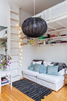 Garsonieră de 16 m² cu pat suspendat Jurnal de design interior