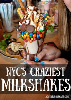 A few months ago, a new breed of milkshakes exploded across the internet. Monsters covered in piles of candy.Layers of candy and frosting upon whipped cr