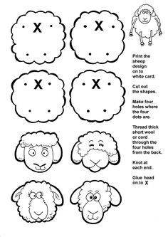 The Lost Sheep - Luke 15 The Parable of the Lost Sheep (do the thread before class then let them glue the head)
