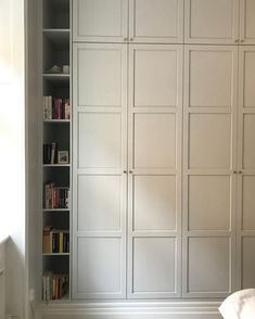 32 Nice Bedroom Closet Doors Design Ideas - Bedroom closets come in many forms. Some bedrooms have one closet either small or large while other bedrooms have his and her closets. Ikea Wardrobe Hack, Ikea Pax Closet, Bedroom Closet Doors, Bedroom Cupboards, Wardrobe Furniture, Bedroom Wardrobe, Wardrobe Doors, Built In Wardrobe, Ikea Pax Doors