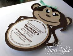 DIY Monkey Invitations