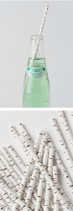 Birch paper straws