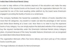 Ememozin a #best #online #bookrental #library service provider.We are offering this service according to pocket size.visit https://www.ememozin.com/