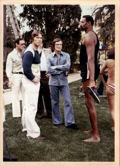 Arnold Schwarzenegger, Hugh Heffner, and Wilt Chamberlain. How awesome is that! :-)