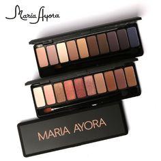 Maria Ayora Matte Powder Eyeshadow Waterproof Minerals Professional Gold Metallic Eyeshadow Palette Shimmer Matte Nude Makeup Sets