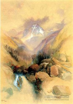 Thomas Moran Mountain Of The Holy Cross Oil Painting Reproductions for sale Thomas Moran, Art Thomas, Oil Painting On Canvas, Canvas Art Prints, Acrylic Paintings, Beautiful Paintings Of Nature, Hudson River School, Holy Cross, Oil Painting Reproductions