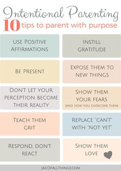 10 Tips to parenting with purpose. Read more on the blog and sign up for FREE 10 Day Email Challenge! (Positive Parenting, Intentional Parenting, Mindful Parenting)