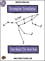 printable Constellation Card and online games for kids to learn more about constellations