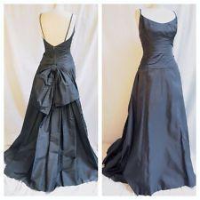 Vintage 1950's Frank Starr Black Silk Ball Gown Size 2