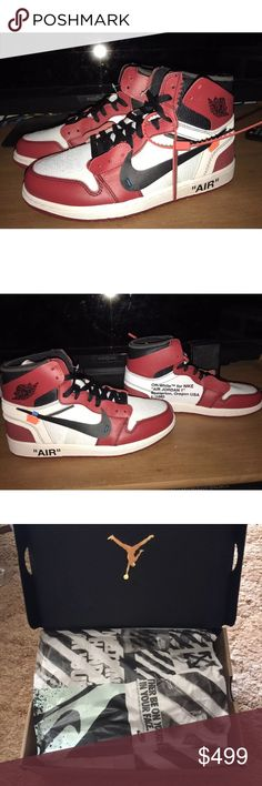 OFF-White Nike Air Jordan 1 Size 10.5 New Deadstock Off White X Nike Air af351539e