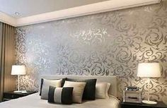 Textured Wallpaper Damask Embossed Patterned Roll Modern Wall Art Vinyl Silver