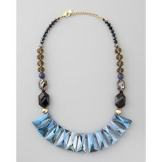 Nakamol Iridescent Crystal Bib Necklace
