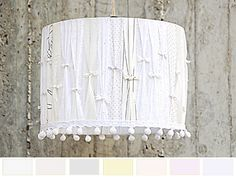 Panna Cotta Elegant romantic Lamp Shade. por GreenQueenEcoDesign