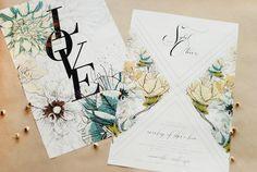 Floral Poster Wedding Invitation Umama4 Sybil + Olivers Floral Poster Wedding Invitations