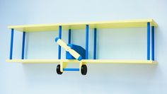 Decorate the Kids Room with Shelves: Airplane Shelves Design For Children With Wooden Material And Blue Color ~ Children Room Inspiration