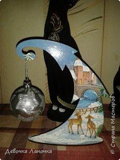 Декор предметов Новый год Пасха Декупаж Мои декупаженки начинания Бутылки стеклянные Дерево Салфетки фото 1
