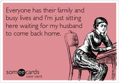 Everyone has their family and busy lives and I'm just sitting here waiting for my husband to come back home. #deployment #military #infertility
