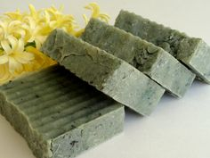 Homemade Soap Handmade Soap Bath Soap Bar Soap GREEN TEA and CUCUMBER Soap Gift Unisex Gift Home made Soap Shea Butter Soap Hot Process Soap. $5.50, via Etsy.