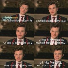 LOL I actually laughed out loud though this is hilarious. This is why Kurt is my favourite character.