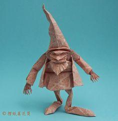 Origami Dwarf, by Eric Joisel. http://havepaperwilltravel.blogspot.com/2013/05/joisel-dwarf.html