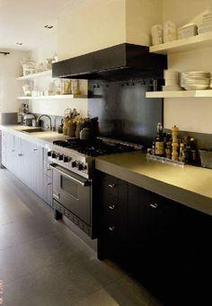 Keuken zwart beton