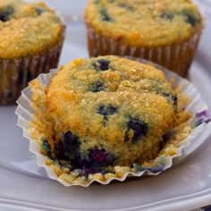 Coconut Flour Blueberry Muffins! If you're looking for an EASY, healthy paleo muffin recipe that uses only coconut flour this is it! #blueberrymuffins #paleomuffins #coconutflour #grainfree