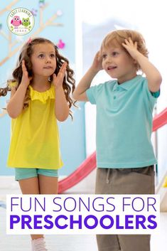 Here is a list of fun preschool movement songs. Try out a few of these action songs to get your preschoolers moving and grooving. Youtube Preschool Songs, Movement Songs For Preschool, Preschool Activities At Home, Circle Time Activities, Movement Activities, Fun Songs, Songs To Sing, Kids Songs With Actions, Easy Dance