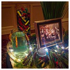 grooms table hunting theme