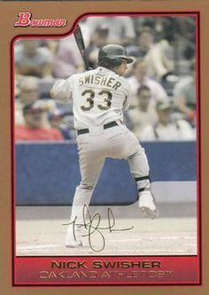2006 Bowman - Gold #1 Nick Swisher Front
