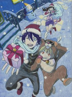Noragami Christmas by arttoinfinity on DeviantArt