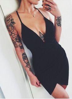 tats + plunge dresses #boohoo