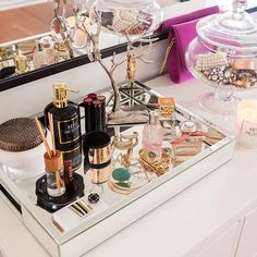 Styling my vanity with @westelm today on MOD MAX GLAM