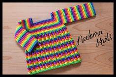 Ravelry: Cable Link Shell Baby Sweater Dress #46 pattern by Amanda Chapman