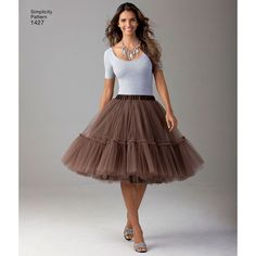 "this is the statement piece your wardrobe has been longing for! misses' tulle skirts in three lengths are perfect for any occasion. dress it up for an evening out, or dress it down for a sweet everyday look.<p> </p><img src=""skins/skin_1/images/icon-printer.gif"" alt=""printable pattern"" /> <a href=""#"" onclick=""toggle_visibility('foo');"">printable pattern terms of sale</a> <div id=""foo"" style=""display:none; margin-top: 10px;"">digital patterns are tiled and labeled so you can print..."
