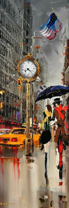 Cityscapes Paintings by Kal Gajoum <3 na: