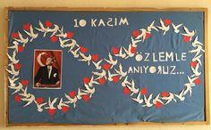 10 Kasım Atatürk Haftası Pano Örnekleri - İlkokul Dökümanları Special Day, Crafts For Kids, Recycling, Good Things, Education, Diy, Mother's Day, Chop Saw, Party