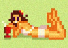 pixel-pin-up: gurl from ipanima
